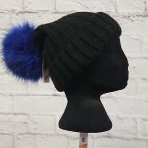 Steve Madden Women's Knit Beanie Hat Oversized Pom